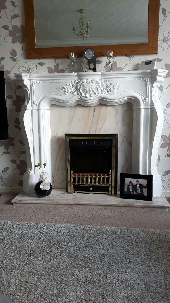 Fireplace and Marble surround Hearth