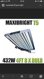 New Maxibright T5 432w 4Ft 8-Tube Grow Light £125 BARGAIN!