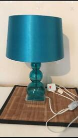 Beautiful teal coloured lamp