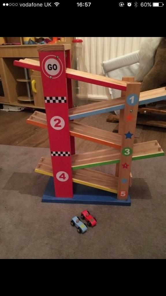Large Wooden Click Clack race track