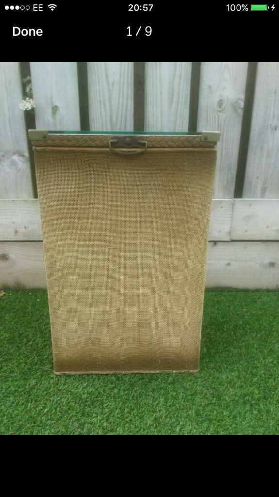 Vintage linen box FREE DELIVERY PLYMOUTH AREA