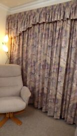 CURTAINS LOVELY HEAVY FULLY LINED 100% COTTON SATIN FINISH