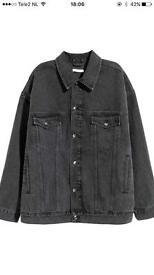 Denim jacket H&M with print on back - 34
