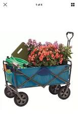 Hard wearing fold up trolley wagon ex display can deliver local
