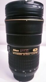 NIKON Nikkor 24-70 mm 2.8 lens - IN MINT CONDITION - LIKE NEW - NO OFFERS