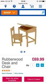 Brand new unopened rubberwood desk and chair