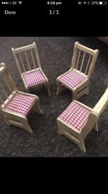 Set of chairs for a dolls house