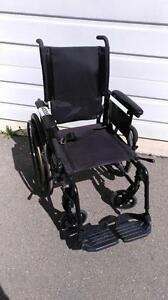 """#001  18"""" wide  Invacare Patriot FOLDING Lightweight Aluminum Frame Wheelchair for ONLY $100"""