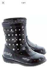 Lelli key black boots size 24 /uk 7