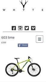 Whyte 603 medium mountain bike