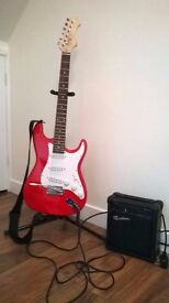 Electric Guitar and Amplifier....plus cable and stand