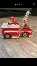 NOW SOLD Paw Patrol Marshall and auto-truck £6