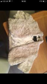 COAST new faux fur beige bolero