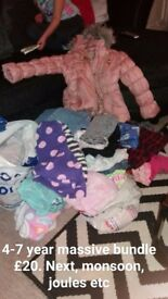 Girls clothes bundle 4-7 years