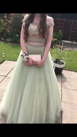 Morilee Designer Prom Dress Size 8-10 Pale Green/Pink