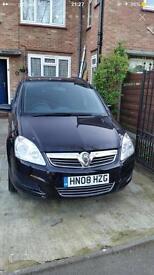 Vauxhall zafira 1.6 petrol 08 Plate