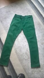 Boys Green colour skiny jeans