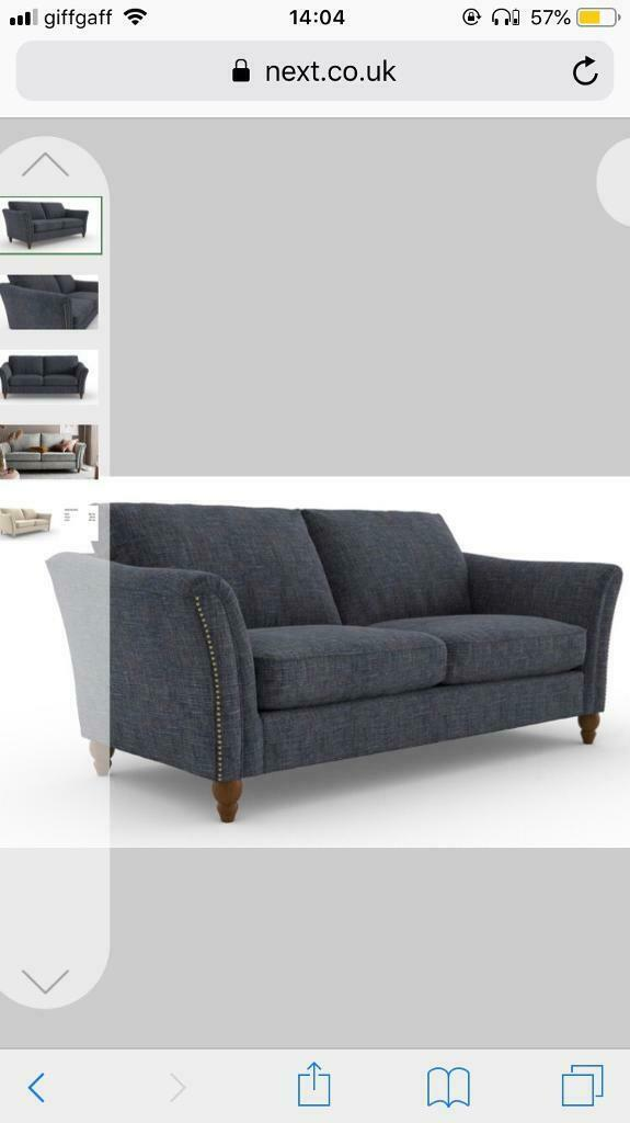 Phenomenal Next Langston 3 Seater Sofa Navy Best Offer Rrp 900 Unemploymentrelief Wooden Chair Designs For Living Room Unemploymentrelieforg