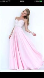 Sherri Hill- Pink sweet heart prom dress
