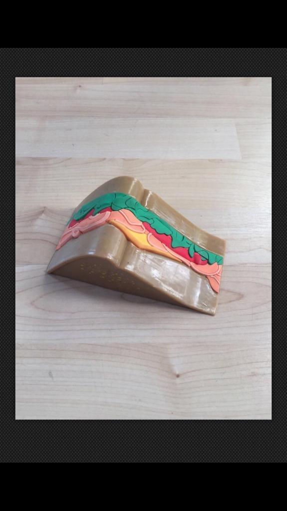 Sandwich door wedge.