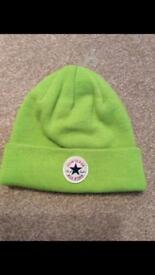 Official Womens/mens Converse All Star winter Lime Green knit Beanie Hat.