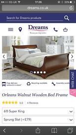 Oak super king bed frane