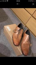 Men's tan leather shoes from ASOS size 8 new