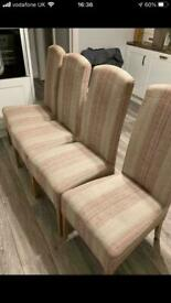 VGC Next dining room chairs paid £320
