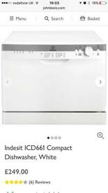 Indesit compact dishwasher