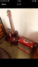 Emily Strange guitar and amp