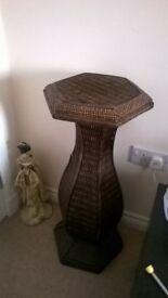Wicker Pedestal Stand.