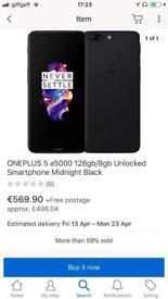 Oneplys 5 a5000 128gb /8gb Unlock