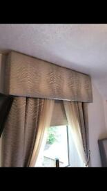 Pelmet and matching curtains