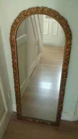 TALL DRESSING MIRROR ORNATE SURROUND WITH HANGING POINT
