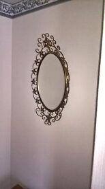 metal framed mirror for sale