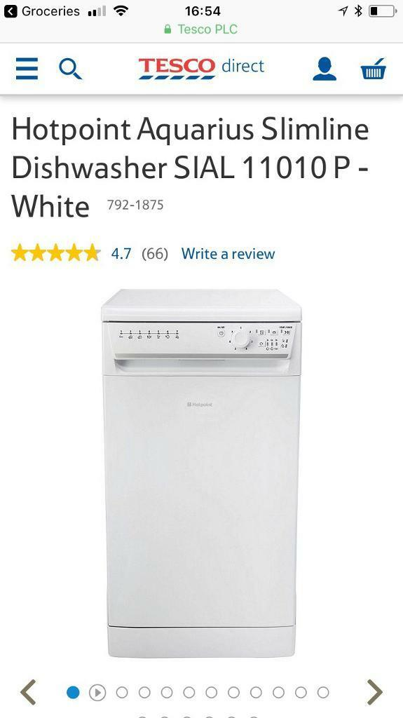 Hotpoint Slimline Dishwasher - White