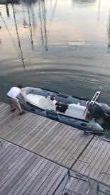 Zodiac pro 500 rib boat