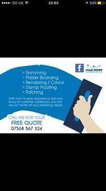 Adam Brown Plastering Services *07568567324*