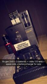 RX GEN 3 Kit + Cleito 120 + Nitecore Battery Charger + Kylin v2 + Coil Master V3 Kit for Sale Vape