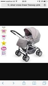 Silver cross linear freeway sugared almonds travel system