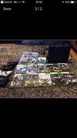 Xbox 360 15 games 4 controllers and headset