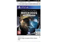 Watchdogs complete edition for ps4 **sealed**