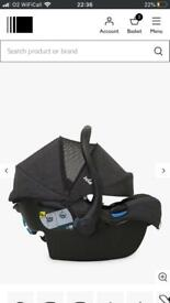 Joie car seat with I base safety attachment