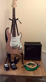crafter electric guitar and amp