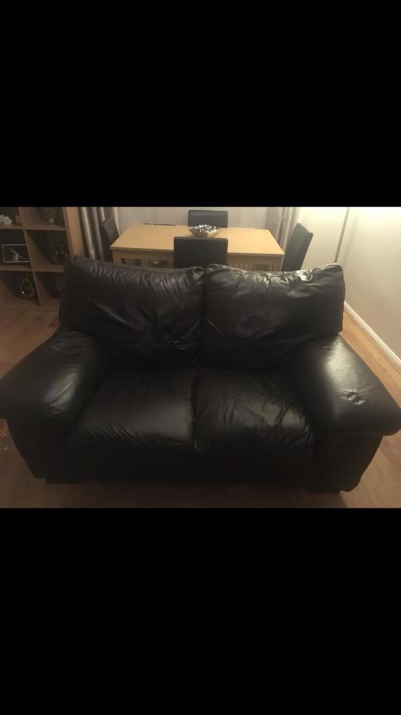 2 3 Dark Brown Leather Sofas In Blyth Northumberland