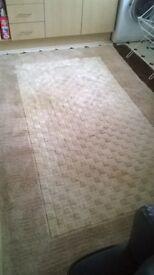 Cream Rectangular Wool Rug
