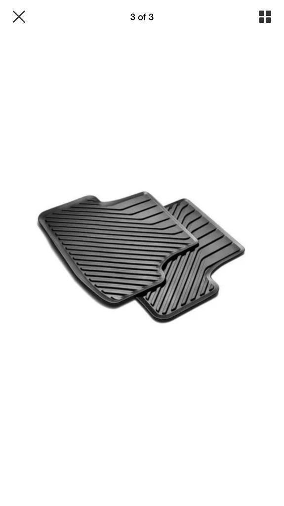 Audi A3 Rubber Floor Mats Front Rear Set Genuine In Batley West