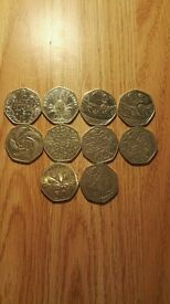 Special collectable 50p coins 50 pence collection