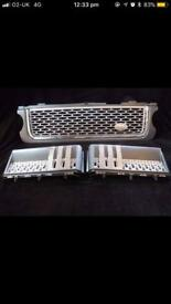 Autobiography style front grille and side vents for Range rover vogue l322 2010-12 models