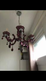 Glass light fitting, additional glass parts can be added